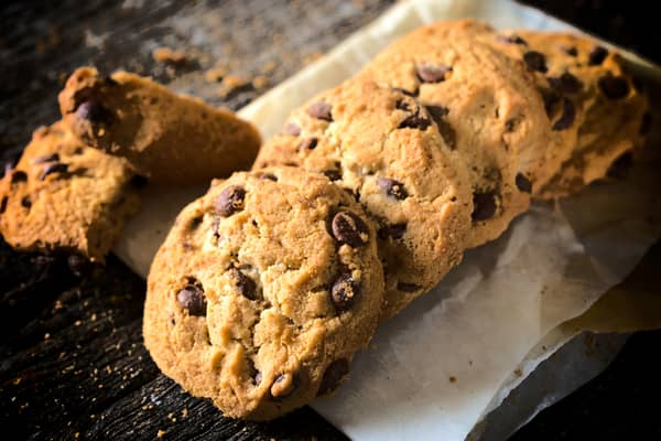 An image of chocolate chip cookies