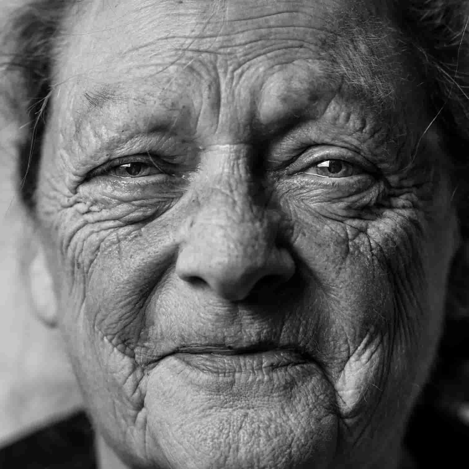 Picture of an old woman's face.